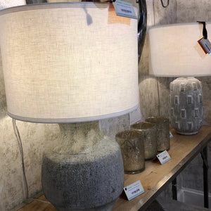 jamie young masonry table lamp concrete
