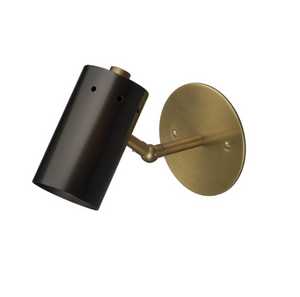 Jamie Young Milano Sconce Brass Antique Lighting Gold Black
