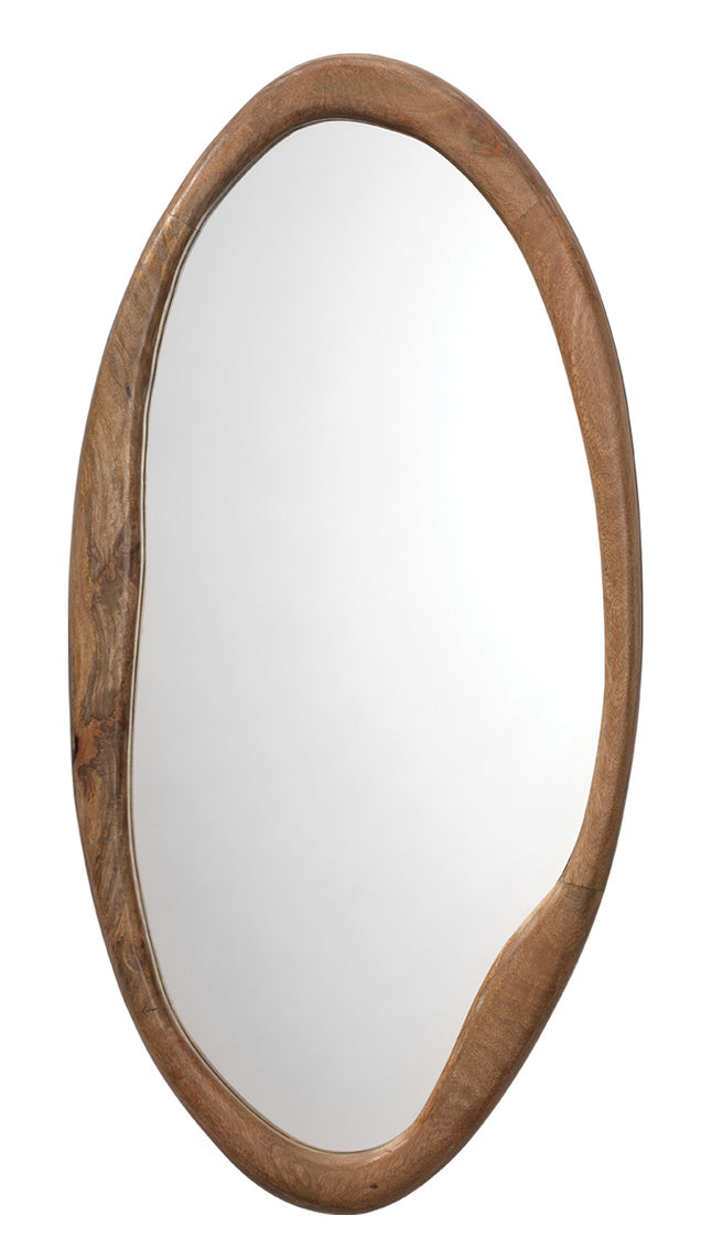 jamie young oval organic mirror