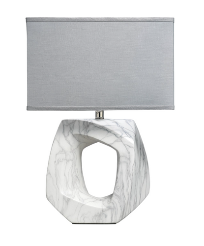 Jamie Young Quarry Table Lamp Ceramic Marble Linen