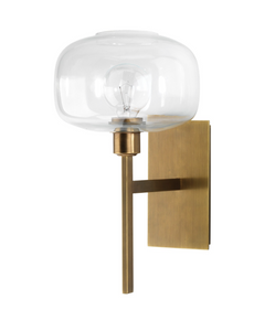 Jamie Young Scando Mod Sconce Antique Brass Gold Lighting
