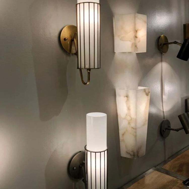 jamie young borealis wall sconce shown in room