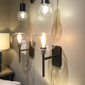 jamie young scando mod silver sconce showroom