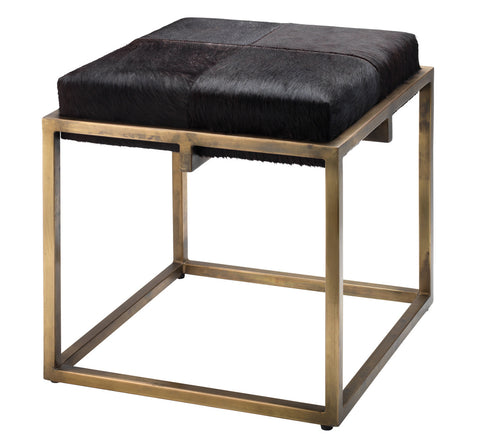 jamie young shelby stool brown hide