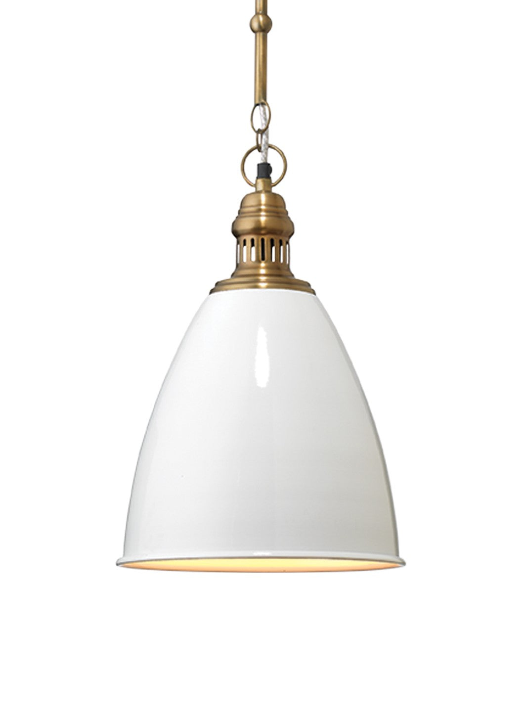 jamie young tavern pendant white illuminated