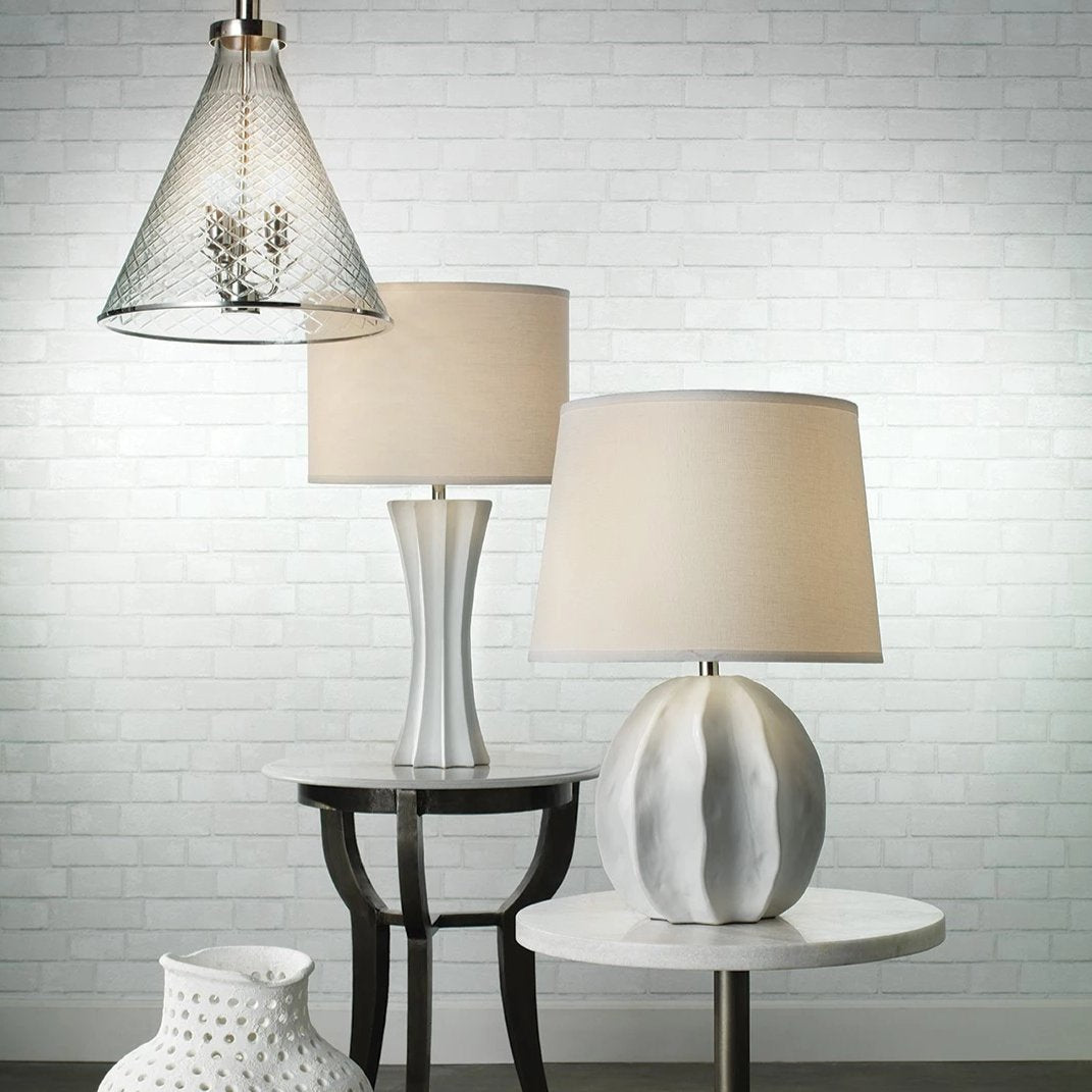 jamie young urchin table lamp white styled