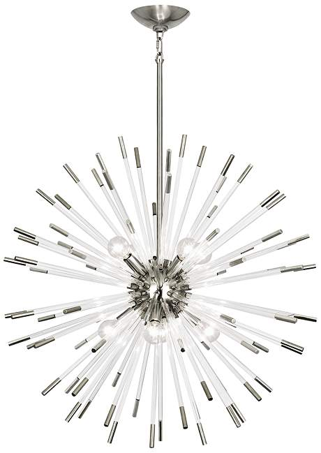 robert abbey andromeda chandelier lucite polished nickel ceiling