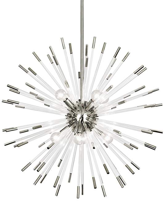 robert abbey andromeda chandelier lucite polished nickel hanging