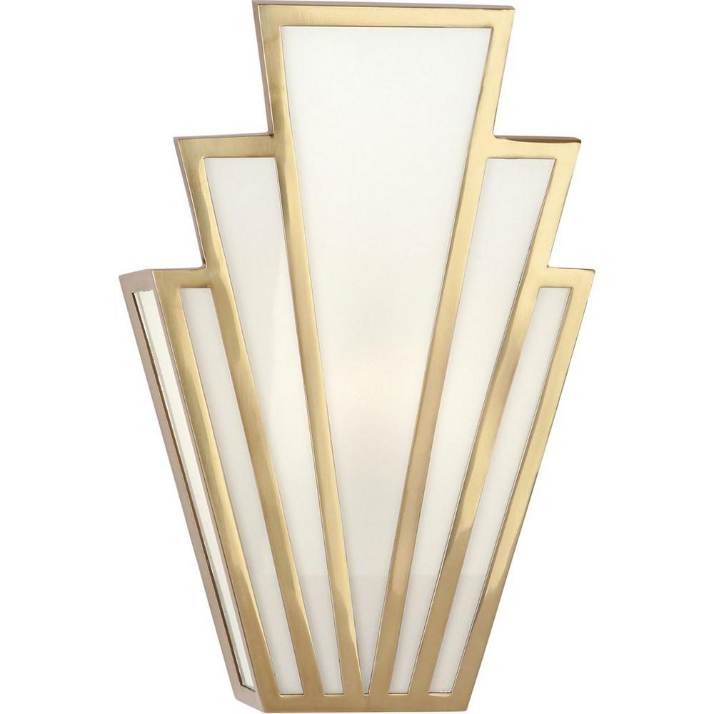 robert abbey empire wall sconce brass one light