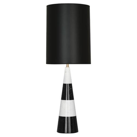 jonathan adler canaan tapered table lamp black shade