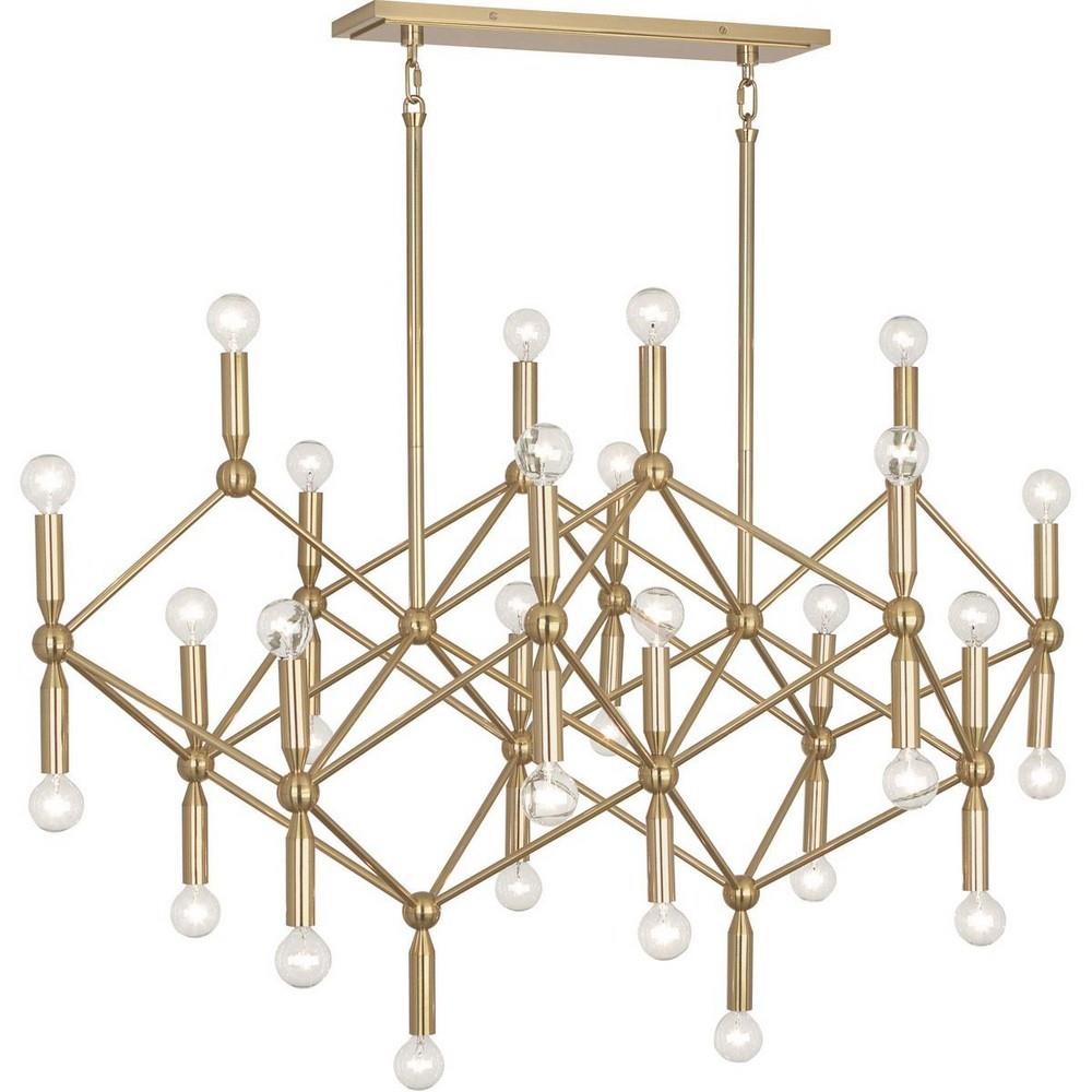 jonathan adler milano chandelier in brass clayton gray home. Black Bedroom Furniture Sets. Home Design Ideas