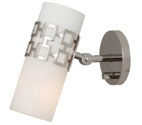Jonathan Adler Parker Wall Sconce Polished Nickel Silver Lighting