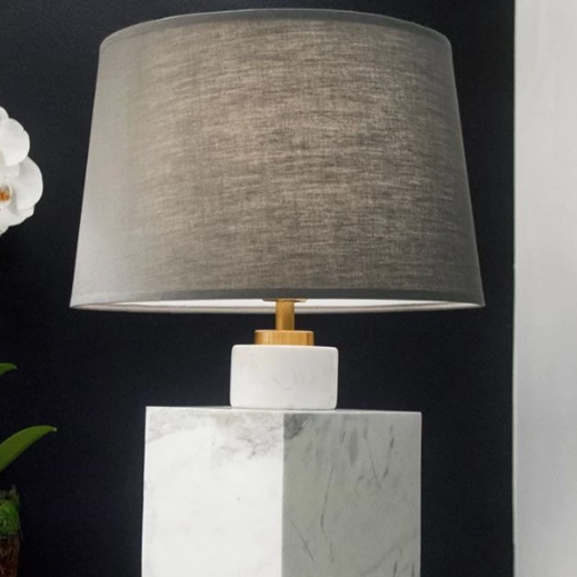 jonathan adler canaan short table lamp marble white in room