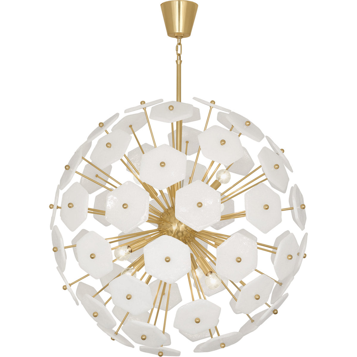 50 Staircases That Expertly Mix Function And Style: Jonathan Adler Vienna Large Globe Chandelier Brass
