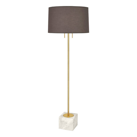jonathan adler canaan floor lamp gray white brass