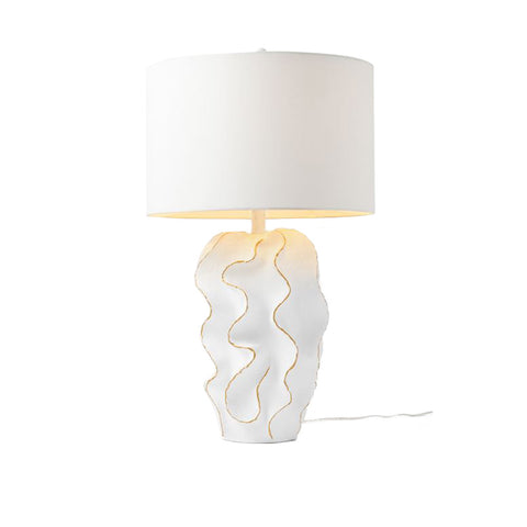 made goods bethany lampe white with gold