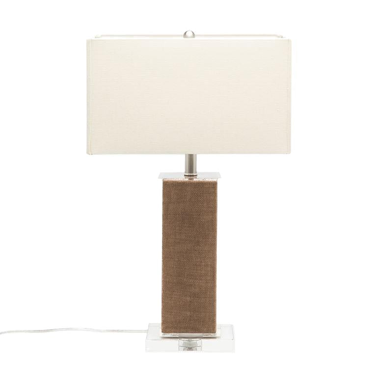 made goods fabre table lamp walnut burlap