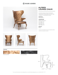 made goods alfred lounge chair tearsheet