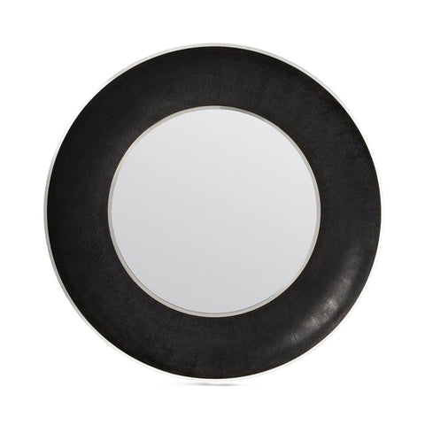 made goods armond mirror black and silver large