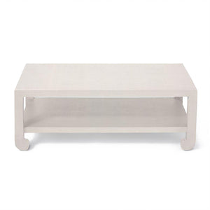 made goods askel coffee table french grey rafffia