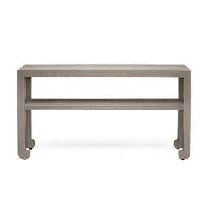 Made Goods Askel Console Seal Raffia Table 60""