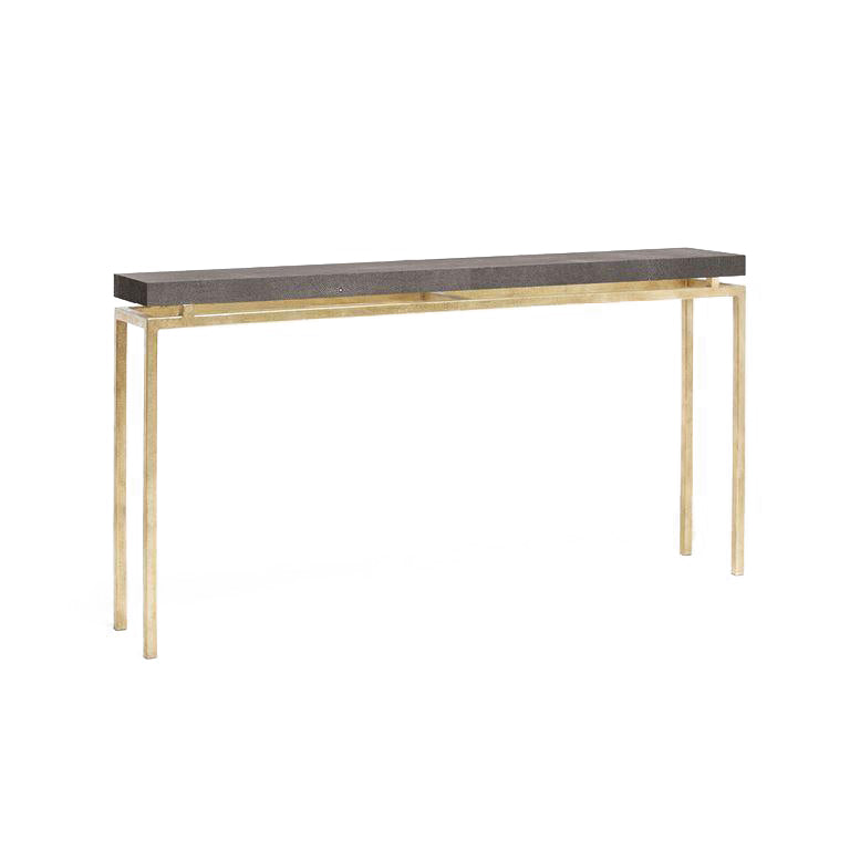 made goods benjamin narrow console mushroom and gold