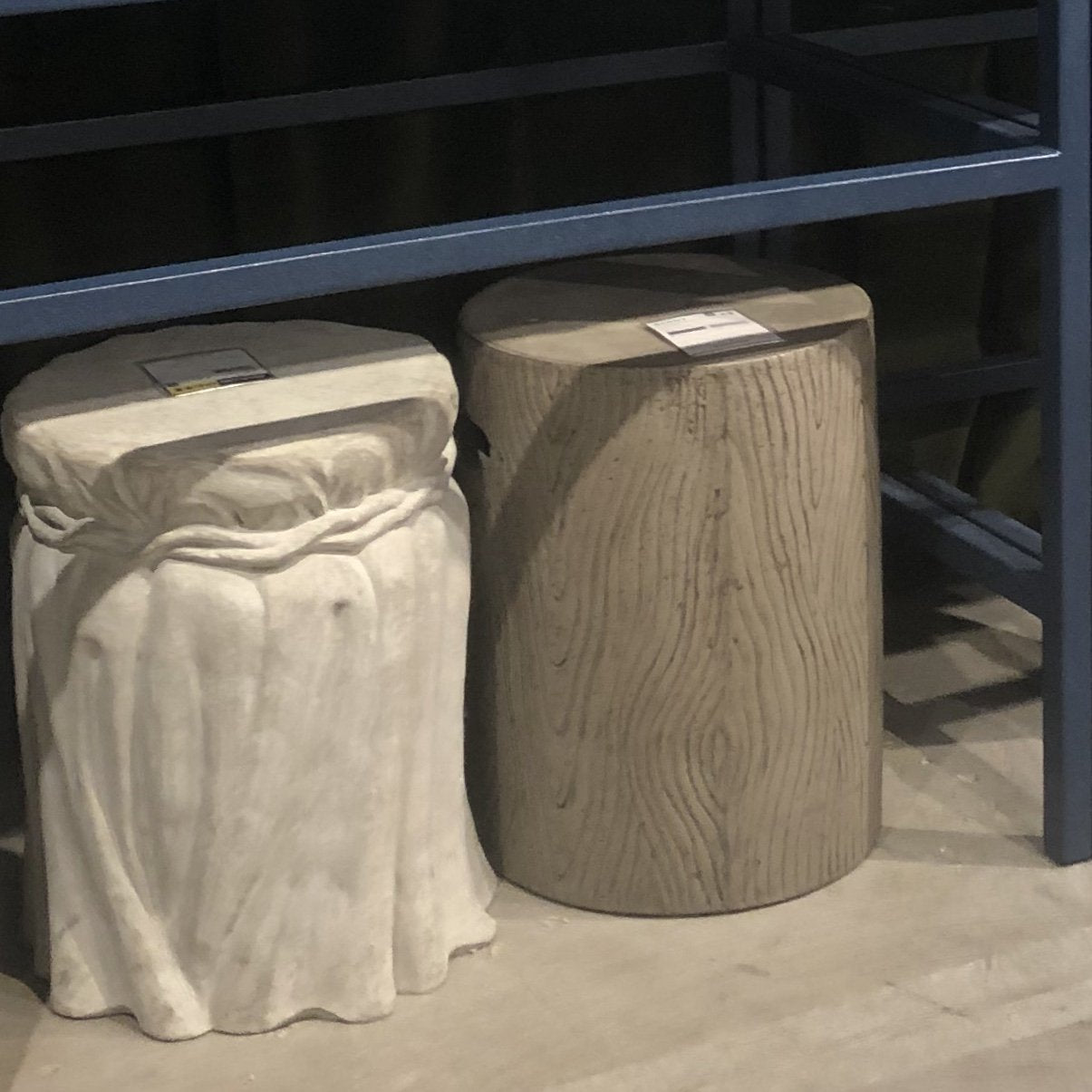 made goods Bernt stool charcoal concrete showroom