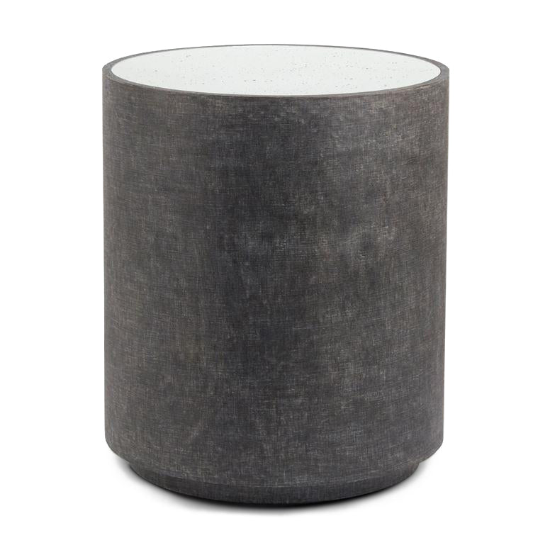 cara charcoal made goods round side table