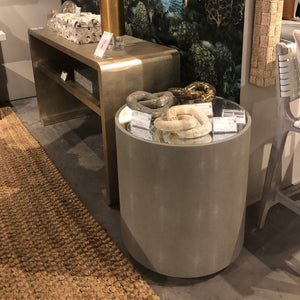 made goods cara side table sand round showroom
