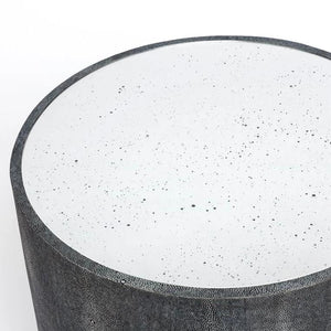 Made Goods Cara Side Table Cool Grey top view