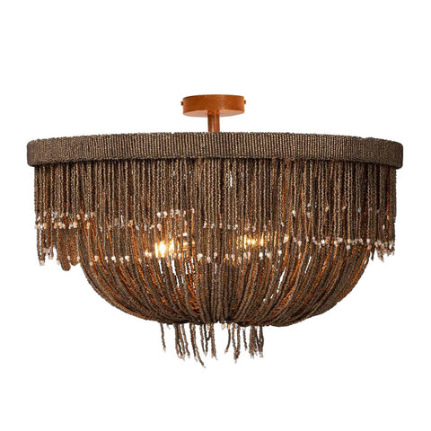 made goods carmen semi flush mount chandelier bronze coco beads