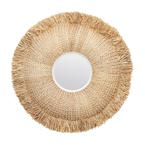 Made Goods Casey Mirror Raffia Natural