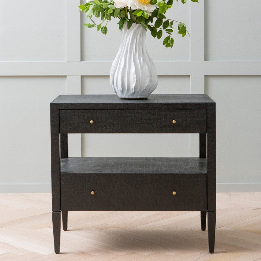 Made Goods Conrad Low Double Nightstand Black Clayton Gray Home