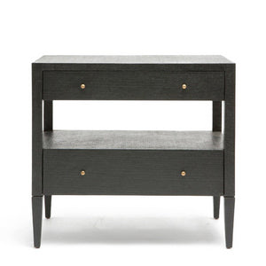Made Goods Conrad Low Double Nightstand Black