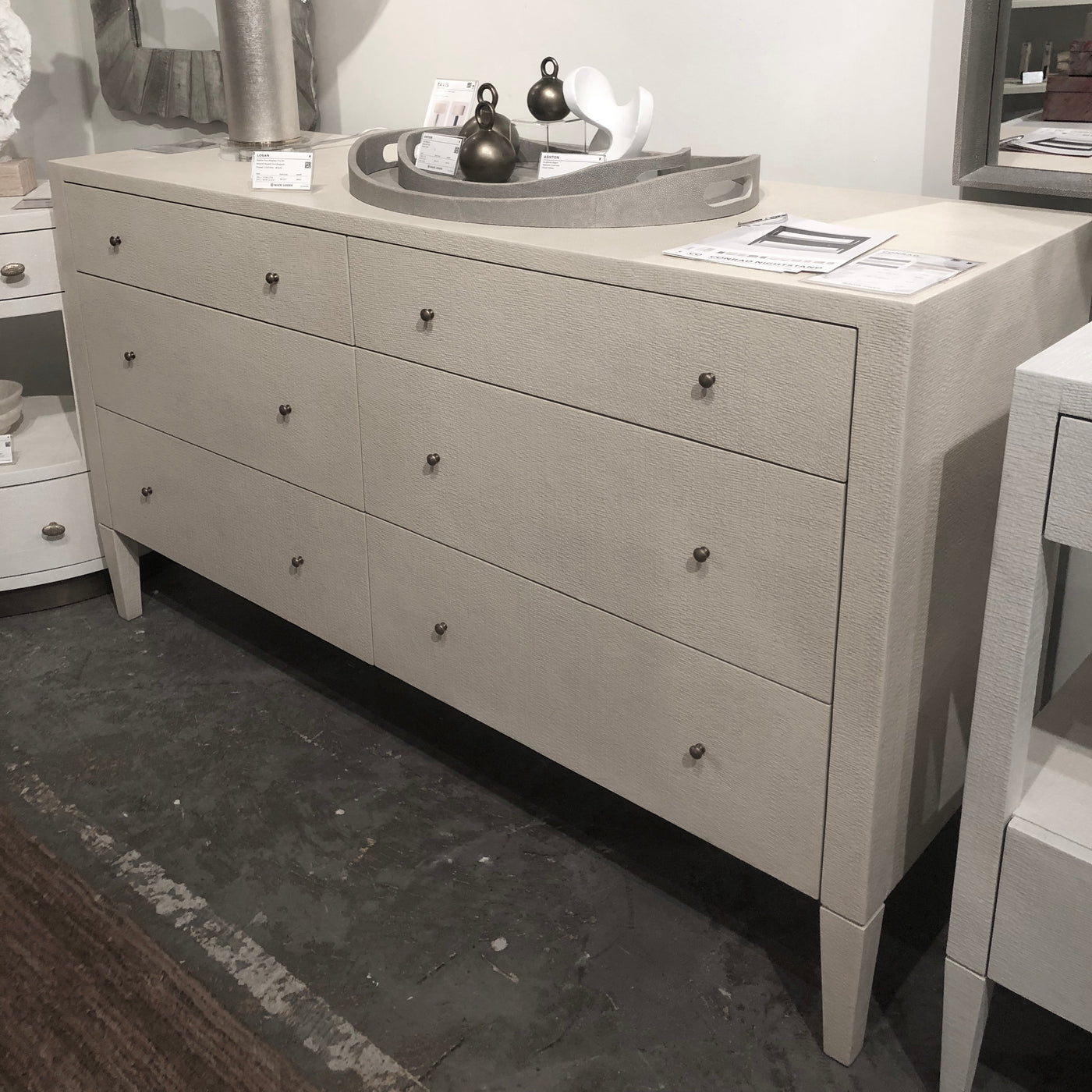 made goods Conrad dresser off white showroom drawers
