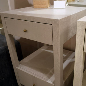 made goods conrad low single nightstand french grey detail