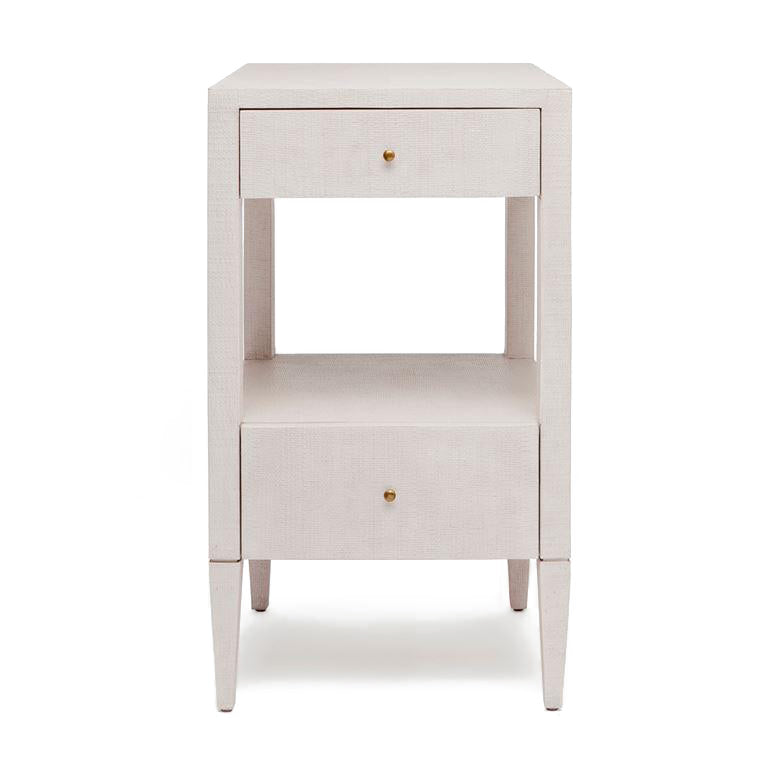 made goods conrad single nightstand french grey faux raffia