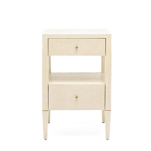 Made Goods Conrad Low Single Nightstand Off White
