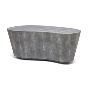 made goods Corbin coffee table gray shagreen kidney