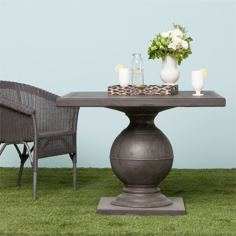 Made Goods Cyril Round Dining Table Aged Gray