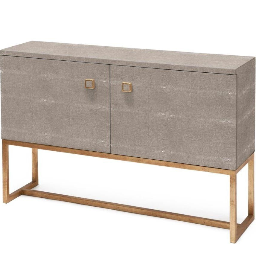Dallon Two Door Buffet in Faux Shagreen Sand with Gold