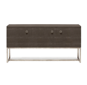 Made Goods Dallon Three Door Buffet Sand Faux Shagreen