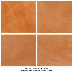 made goods dante camel leather fabric