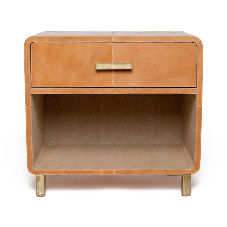 made goods dante double nightstand camel leather