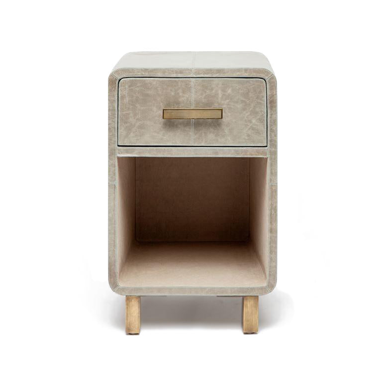 made goods dante single nightstand storm gray leather