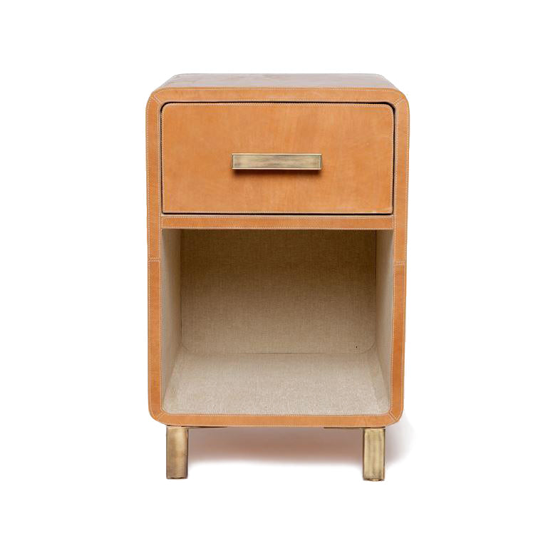 made goods dante single nightstand camel leather