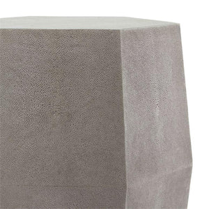made goods daryl stool castor gray faux shagreen side table hexagon