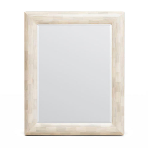 made goods deacon mirror ivory faux horn