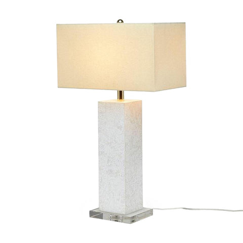 made goods della lamp white lacquered eggshell