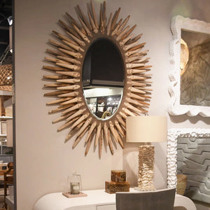 made goods donatella oval mirror natural lifestyle